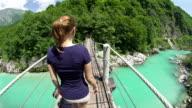 Camminare sopra Ponte sospeso