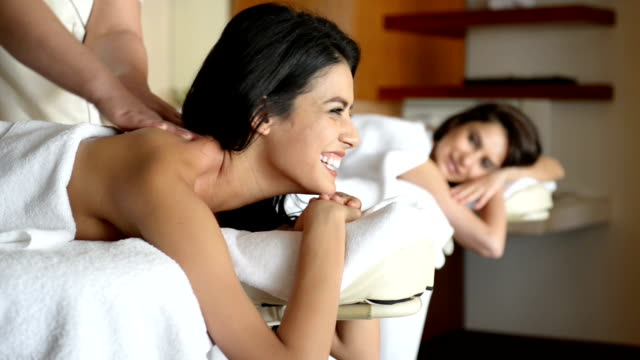 Young women at SPA treatment