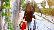 HD: Young women walking back home