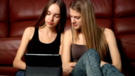 young women with digital tablet