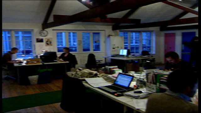 YouTube used by big business advertisers General view of workers at desks in The Viral Factory advertising agency PAN