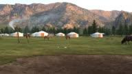 Yurts at Gorkhi-Terelj National Park Mongolia