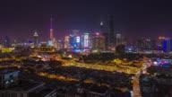 Yuyuan Gardens looking towards Pudong. Shanghai, China