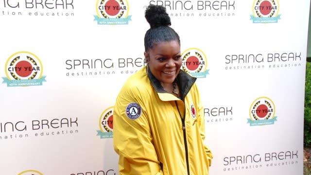 Yvette Nicole Brown at City Year Los Angeles Spring Break in Los Angeles CA