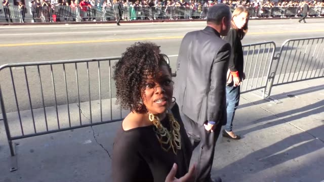 INTERVIEW Yvette Nicole Brown talks about The Walking Dead as she arrives at Jungle Book Premiere at El Capitan Theatre in Hollywood in Celebrity...