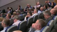 Yvonne Fletcher murder inquiry collapses Birmingham INT GVs Police in audience at Annual Police Conference Sir Hugh Orde interview SOT
