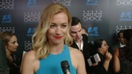 INTERVIEW Yvonne Strahovski on being at the event and on appearing on the show '24' at the 2015 Critics' Choice Television Awards at The Beverly...