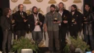 SPEECH Zac Brown Band on their music at The 55th Annual GRAMMY Awards Press Room 2/10/2013 in Los Angeles CA