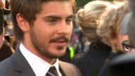 Zac Efron at the The Death and Life of Charlie St Cloud UK Premiere at London England