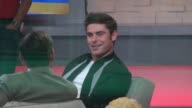 Zac Efron being interviewed on the 'Good Morning America' show in Celebrity Sightings in New York