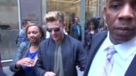 Zac Efron leaving SiriusXM Satellite Radio in New York City in Celebrity Sightings in New York