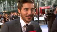Zac Efron on the film's storyline and his character at the The Death and Life of Charlie St Cloud UK Premiere at London England
