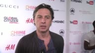 INTERVIEW Zach Braff discusses how people can make a difference in the world at 2015 Global Citizen Concert at Central Park on September 26 2015 in...