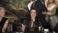 Zach Braff Michelle Williams Rachel Weisz James Franco Mila Kunis on working with Sam Raimi at 'Oz The Great and Powerful' Press Conference at...