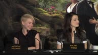 Zach Braff on his costume Mila Kunis Rachel Weisz Michelle Williams on their costumes at 'Oz The Great and Powerful' Press Conference at Claridges...