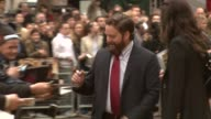 Zach Galifianakis at the The Hangover European Premiere at London England