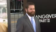 Zach Galifianakis at the 'The Hangover Part II' premiere at Hollywood CA