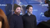 Zach Galifianakis Justin Bartha at the Oceana Annual Partners Award Gala 2009 at Los Angeles CA