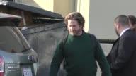 Zach Galifianakis leaving Jimmy Kimmel Live in Hollywood in Celebrity Sightings in Los Angeles