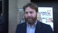 Zach Galifianakis on getting back from Toronto and saying the same thing about the movie for four days Jokes that he's back in time for fashion week...