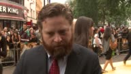 Zach Galifianakis on not believing the box office on why the premiere is odd for him on being worried the film's success will change him at the The...