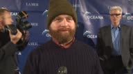 Zach Galifianakis on the event how he knows Ted Danson how he helps the environment at the Oceana Annual Partners Award Gala 2009 at Los Angeles CA