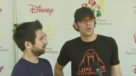 Zachary Levi and Josh Gomez on the event the booth he's working his favorite carnival ride at the A Time for Heroes Carnival @ The Wadsworth Theatre...