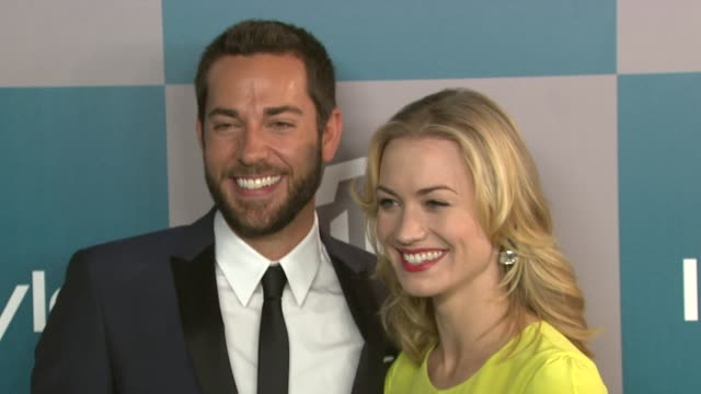 Zachary Levi and Yvonne Strahovski at 13th Annual Warner Bros And InStyle Golden Globe AfterParty on 1/15/2012 in Beverly Hills CA
