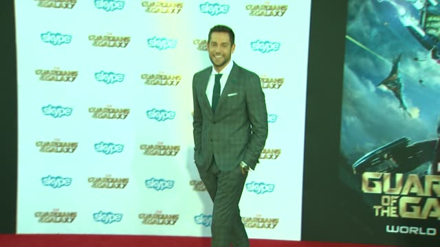 Zachary Levi at the 'Guardians of the Galaxy' World Premiere at the El Capitan Theatre on July 21 2014 in Hollywood California