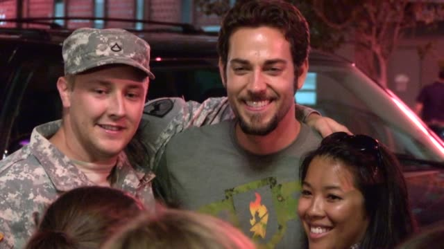 Zachary Levi greets fans at Comic Con in San Diego 07/13/12