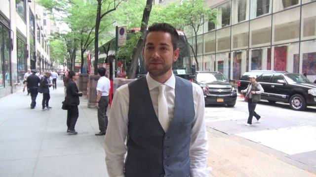 Zachary Levi leaving NBC Studios in Celebrity Sightings in New York