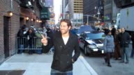 Zachary Levi outside the Late Show with David Letterman at the Celebrity Sightings in New York at New York NY