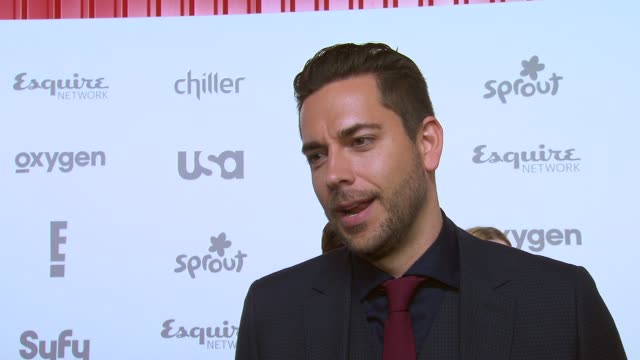 INTERVIEW Zachary Levi talks about Geeks Who Drink on Syfy at NBCUniversal Cable Entertainment Upfront 2015 at The Jacob K Javits Convention Center...