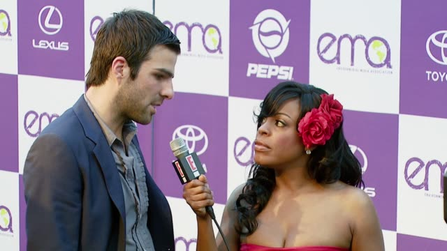 Zachary Quinto and Niecy Nash at the 2007 EMA Awards at the Wilshire Ebell Theatre and Club in Los Angeles California on October 24 2007