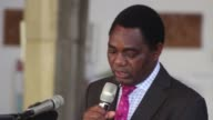 Zambia's main opposition leader on Tuesday vowed to forgive his political opponents and not seek revenge following four months in jail for allegedly...
