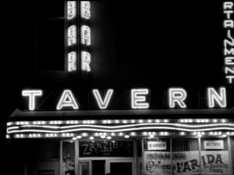 / Zanzibar Tavern strip club neon sign and exterior 1960s Toronto strip club on January 01 1963 in Toronto