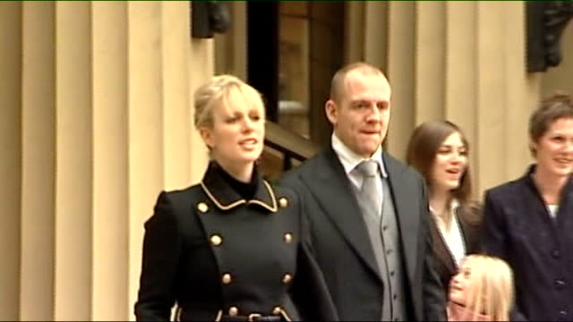 Zara Phillips prewedding reception on royal yacht Britannia / R28110701 London Buckingham Palace Zara Phillips with Mike Tindall