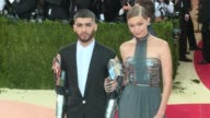 Zayn Malik Gigi Hadid at Manus x Machina Fashion in an Age of Technology Costume Institute Benefit Gala Arrivals at Metropolitan Museum of Art at The...