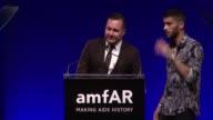 SPEECH Zayn Malik presents award to Kim Jones at 7th Annual amfAR Inspiration Gala New York at Skylight at Moynihan Station on June 09 2016 in New...