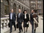 Day 5 ENGLAND Central London David Lewry Wife Tricia Leslie Sable and another TOWARDS and RL to BV up steps to inquiry MS Stephan Miller RL to BV up...