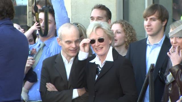 Zeljko Ivanek and Glenn Close at the Glenn Close Receives a Star on the Hollywood Walk of Fame at Los Angeles CA