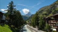 Zermatt and the Matterhorn, Switzerland. 4K Timelapse