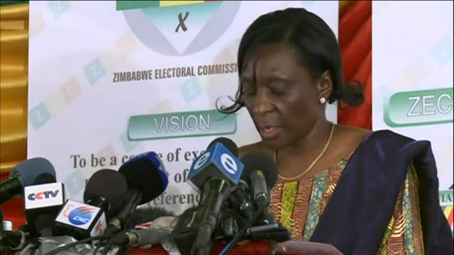 Zimbabwe electoral commission announces Robert Mugabe as winner of presidential election