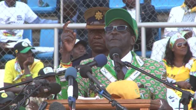 Zimbabwe President Robert Mugabe is hoping to hold of the challenge from his long time rival Morgan Tsvangirai and win another five year term VOICED...