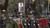 Zimbabwean President Robert Mugabe attends the opening of parliament in the capital Harare