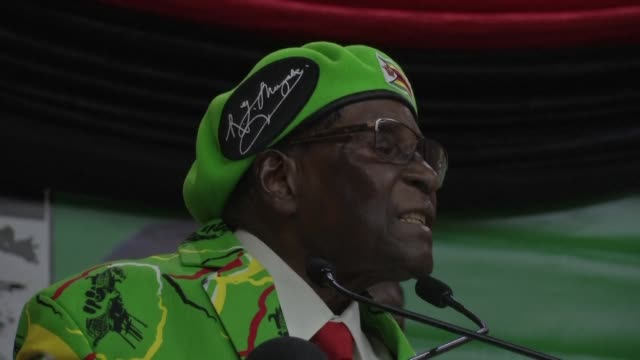 Zimbabwe's President Mugabe speaks at youth assembly hinting that he will shake up his cabinet next week amid deepening factionalism in his Zanu PF...