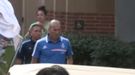 Zinedine Zidane of Real Madrid greets fans during practice at UCLA in Los Angeles 08/02/13