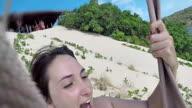 Zipline girl vacation summer