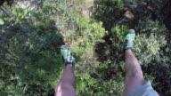 POV Ziplines past tree tops in Belize