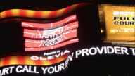 A zipper sign advertises ESPN Full Court at Times Square Studios.